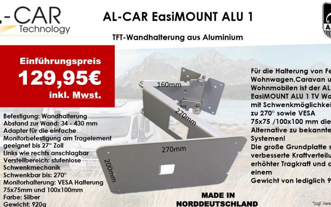 AL-CAR EasiMOUNT ALU 1 – TFT-Wandhalterung aus Aluminium