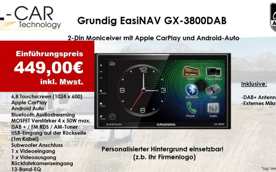 Grundig EasiNAV GX-3800DAB – 2-Din Moniceiver mit Apple CarPlay